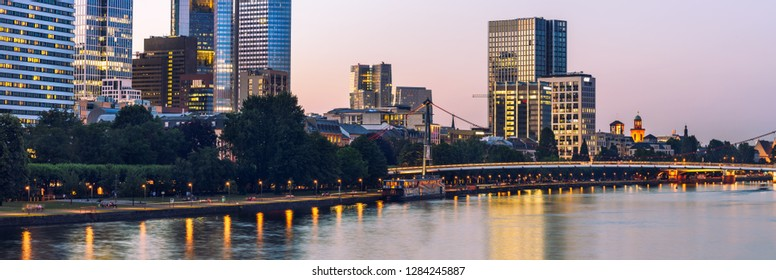 panoramic view of Frankfurt city skyline