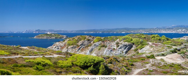 Panoramic view of the French Riviera near Toulon