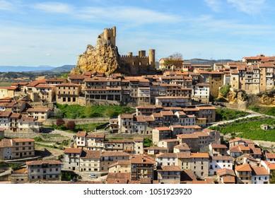 Panoramic view of Frias, medieval village in Burgos, Spain