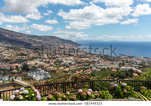 Panoramic view of Funchal on Madeira Island. Portugal