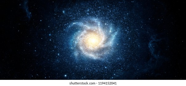 Panoramic view of the galaxy and star. Abstract space background. Elements of this image furnished by NASA.