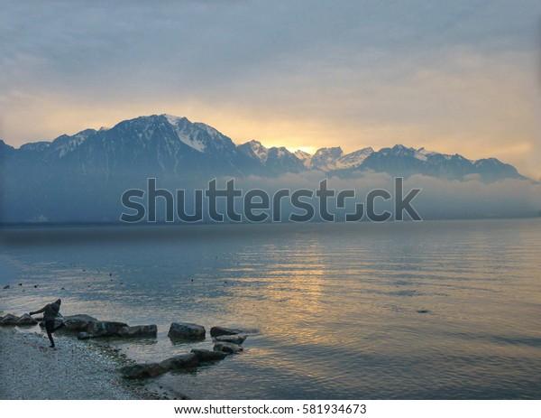 Panoramic view of Geneva Lake