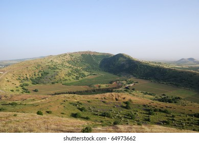 Panoramic view of golan heights, Israel 2009