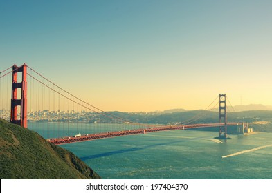 Panoramic view of Golden Gate brige in San Francisco