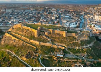 Panoramic view of Gori center with medieval fortress, Shida Kartli region of Georgia - Shutterstock ID 1969493905
