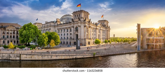 panoramic view at the government district, berlin