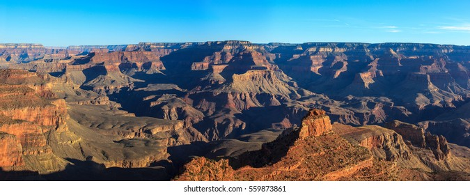 Panoramic view of the Grand Canyon, south rim. Arizona, United States