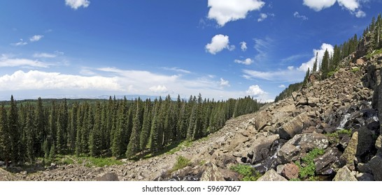 Panoramic View Grand Mesa National Forest in Colorado.  The Worlds Largest Flat-Topped Mountain