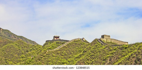 Panoramic view of the Great Wall, China