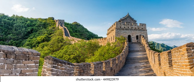Panoramic view of Great Wall of China