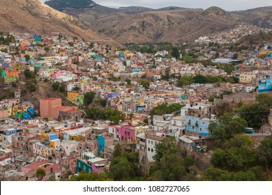 Panoramic view of Guanajuato, Mexico