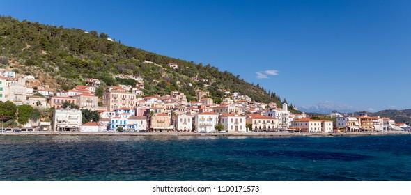 Panoramic view of Gytheio town, Laconia, Peloponnese, Greece.