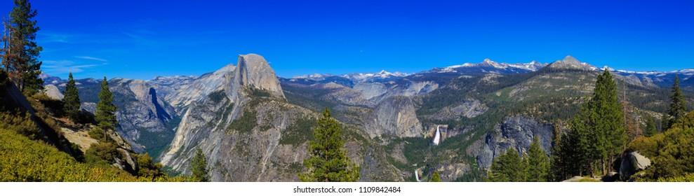 Panoramic View of Half Dome at Yosemite National Park