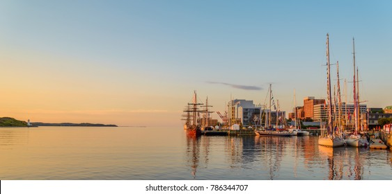 Panoramic view of Halifax in the Early Morning (During the Nova Scotia Tall Ship Festival 2017)