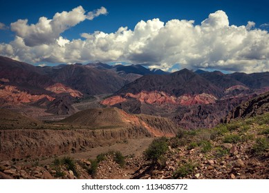 Panoramic View of the Hills of Tilcara in Jujuy, Argentina
