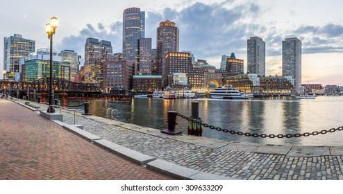Panoramic view of the historic architecture of Boston in Massachusetts, USA at Back Bay.