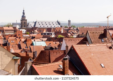 panoramic view of the historic center of Bamberg. Bamberg, Upper Franconia, Germany.