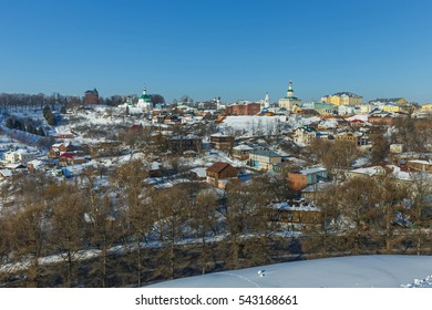 Panoramic view of the historic center of Vladimir, Russia.