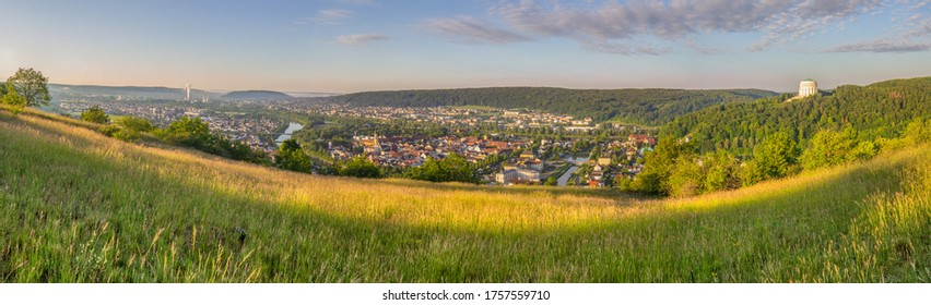 Panoramic view of the historic city of Kelheim in the Altmühl Valley in Germany