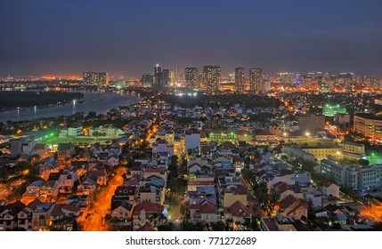 Panoramic view of Ho Chi Minh City, Vietnam