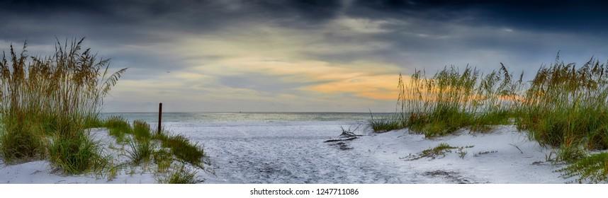 Panoramic view of Holmes Beach, Anna Maria Island,Manatee County,America