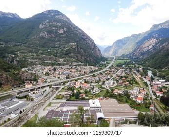 A panoramic view of Hone, Aosta Valley - Italy