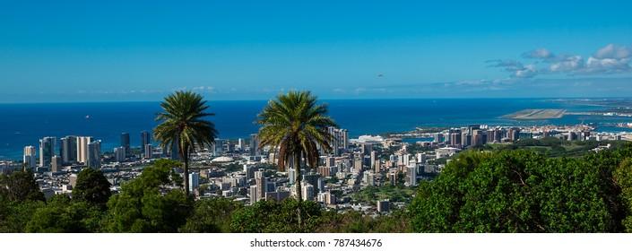 Panoramic view of Honolulu