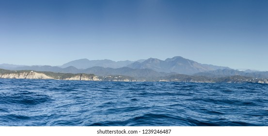 panoramic view huatulco bays Mexico