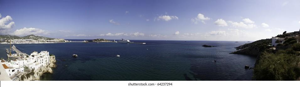 Panoramic View of Ibiza Town