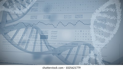 Panoramic view of information data against white background