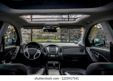 Panoramic View Inside Car Double Sunroof Stock Photo Edit Now