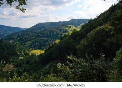 Panoramic view into the Black Forest Germany. Made near the village Todnauberg.