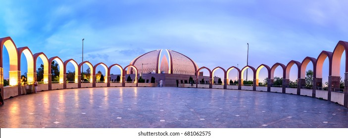 Panoramic view of Islamabad Monument from its back side