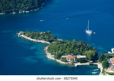 Panoramic view of the island of Mljet, national park of Croatia