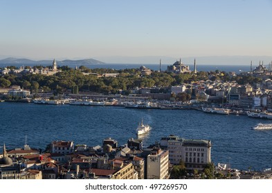 Panoramic view of Istanbul from Galata tower