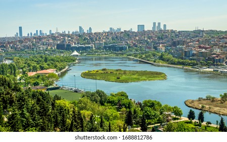 Panoramic view of Istanbul from pierre loti Istanbul, Turkey 25 May 2019