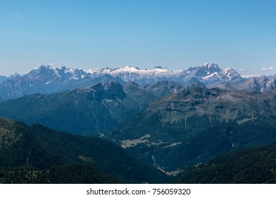 Panoramic View of Italian Dolomites Alps in Summer Time.