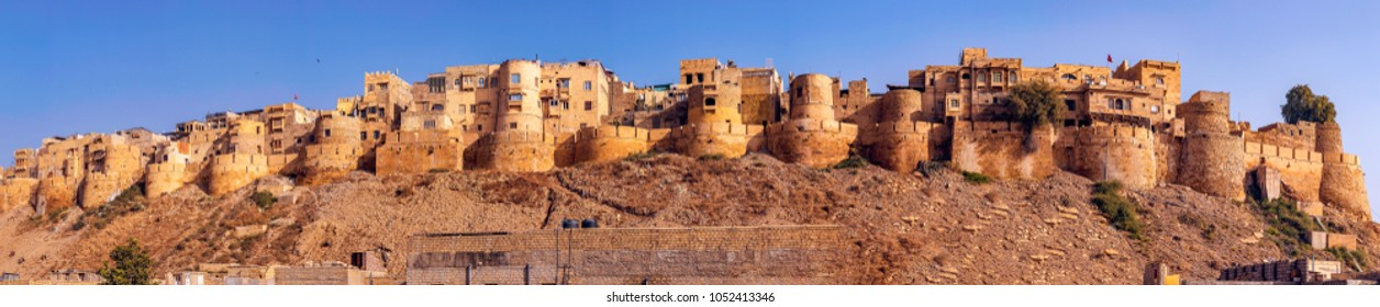 Panoramic view of the Jaisalmer Fort at Rajasthan. A UNESCO World Heritage site.
