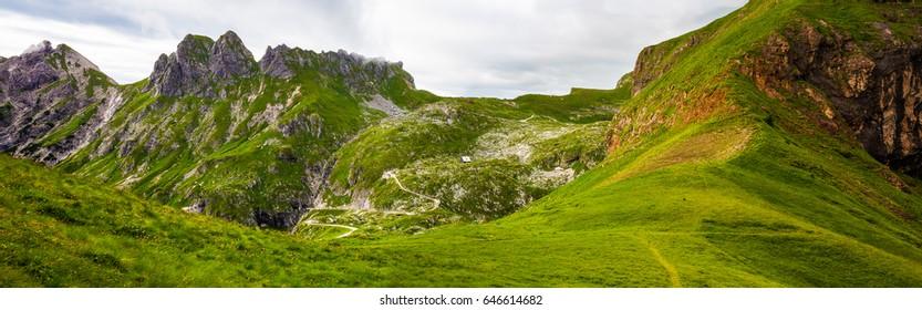 Panoramic view of Julian Alps