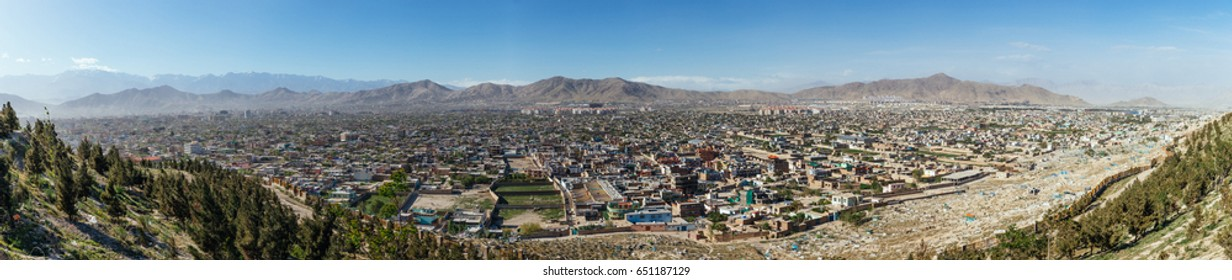 Panoramic view of Kabul