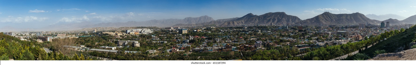 Panoramic view of Kabul.