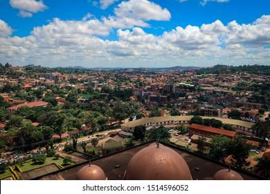 Panoramic view of Kampala city from Gadafi Mosque, Uganda