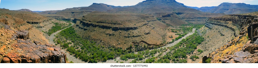 Panoramic view of the Karoo National Park in South Africa