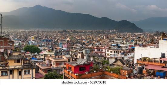 Panoramic view to Kathmandu city, Nepal