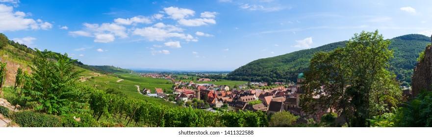 Panoramic view of Kaysersberg / Alsace / France