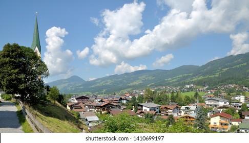 panoramic view of Kirchberg in Tirol,Austria