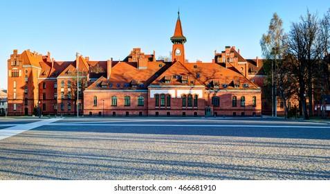 Panoramic view of Klaipeda city university. Klaipeda, Lithuania.