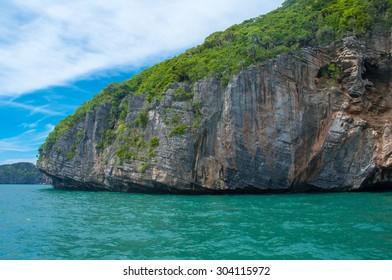 Panoramic view of the Ko Mae Ko Island in Thailand