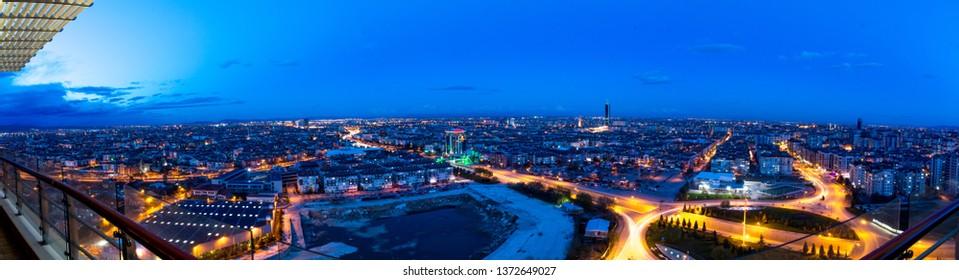 panoramic view of konya city