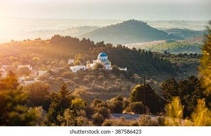 Vue panoramique sur l'île de Kos, Grèce